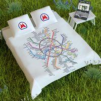 Постельное белье Карта метро