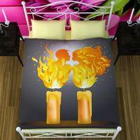 Постельное белье Романтика и свечи