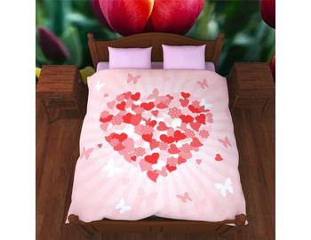Постельное белье Сердце и бабочки