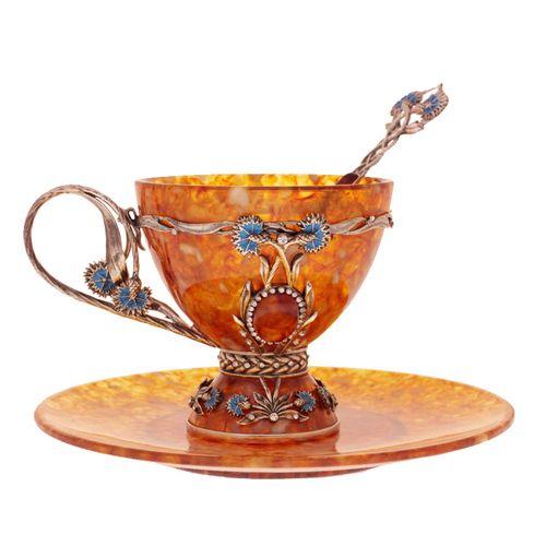 Чашка чайная Васильки
