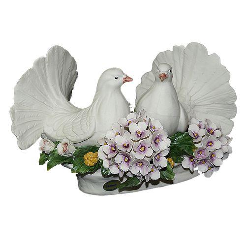 Статуэтка Пара голубей с гортензией